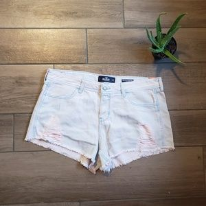 Hollister low rise boyfriend Jean shorts pink 15